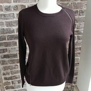 J. Crew 100% Merino Wool Brown Chic Sweater